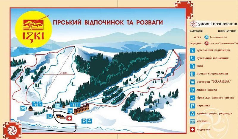 Горнолыжный курорт Изки - подъемники и трассы